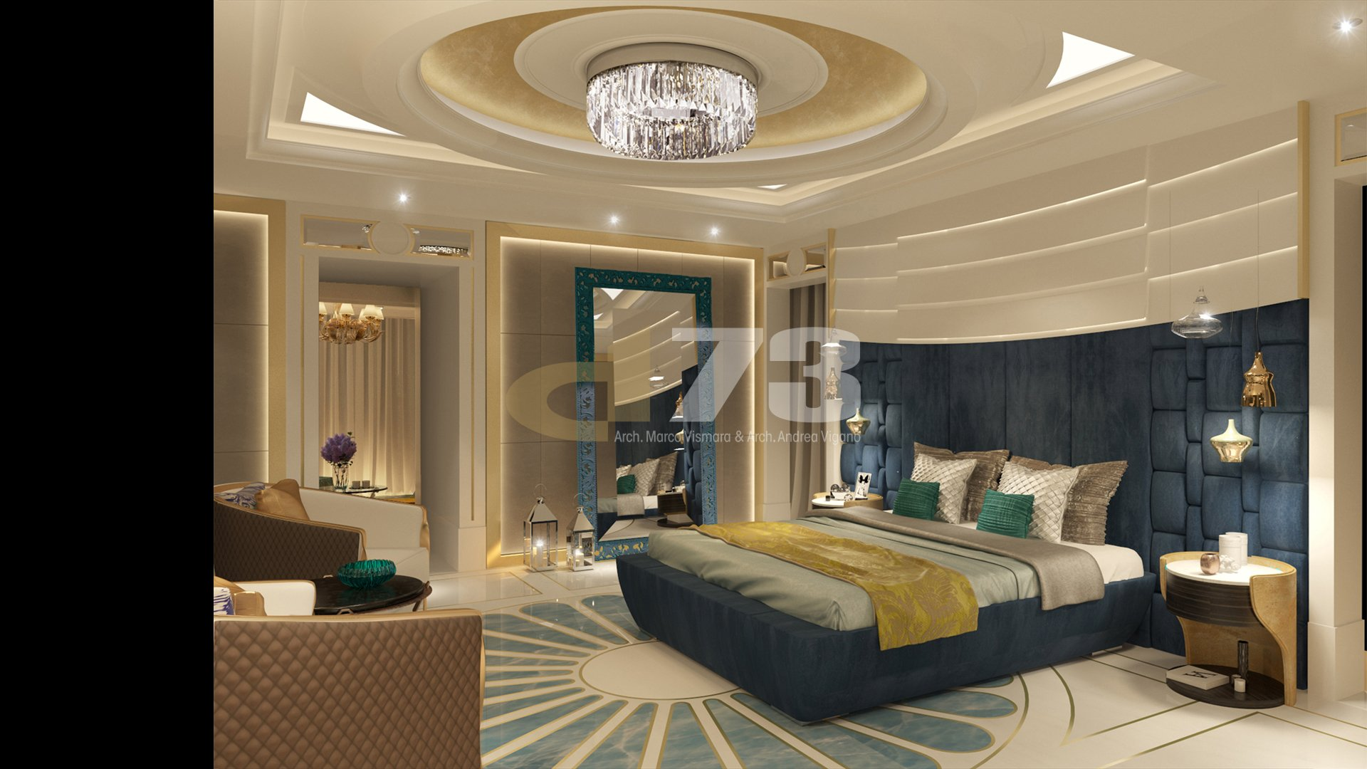Appartment 1- luxury contemporary bedroom_02